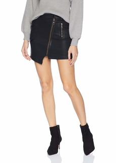 Hudson Jeans Women's HIGH Rise Moto Skirt