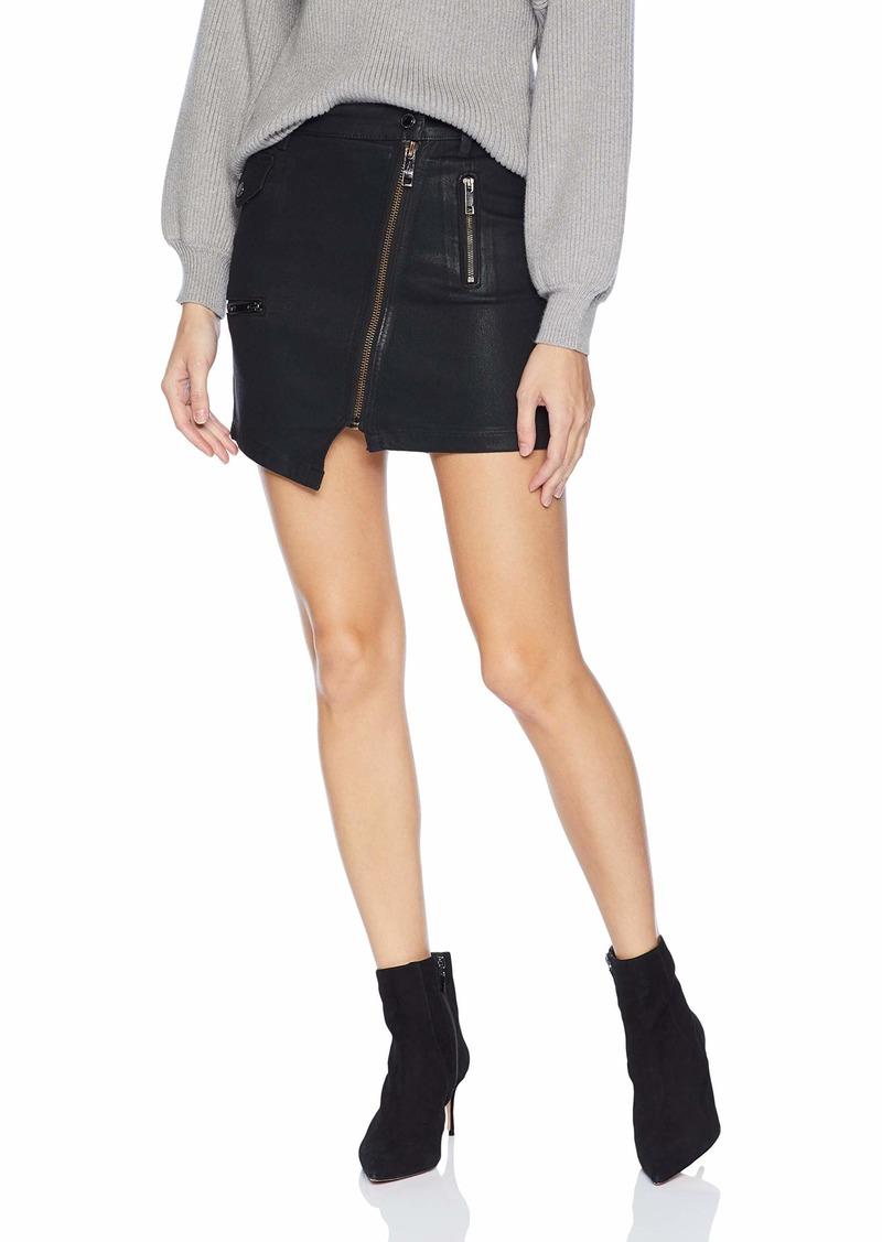 Hudson Jeans Women's HIGH Rise Moto Skirt