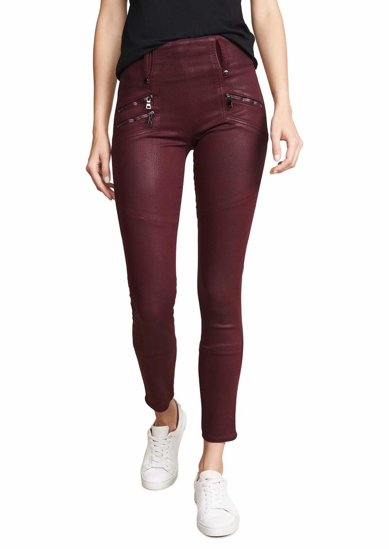 Hudson Jeans Women's HIGH Rise Skinny Moto Zip Pant