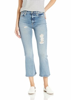 Hudson Jeans Women's Holly HIGH Rise Crop Flare 5 Pocket Jean