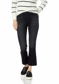 Hudson Jeans Women's Holly HIGH Rise Flare Crop RAW Hem 5 Pocket Jean