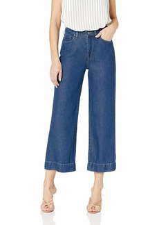 Hudson Jeans Women's Holly HIGH Rise Wide Leg Crop 5 Pocket Pant