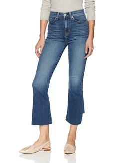Hudson Jeans Women's Holly HR Crop Flare (BK DET)