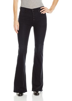 Hudson Jeans Women's Jodi High Waist Raw Hem Flare 5 Pocket Jeans HARDLINE