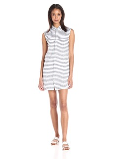 Hudson Jeans Women's Jules Sleeveless Striped Shirt Dress