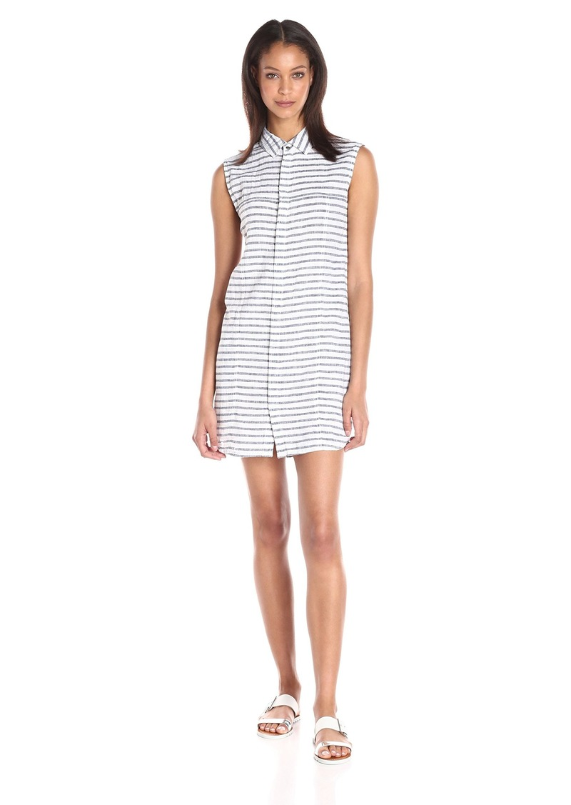 Hudson Jeans Women's Jules Sleeveless Striped Shirt Dress