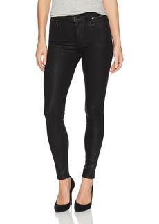 Hudson Jeans Women's Kooper High Rise Super Skinny Coated Jeans Black