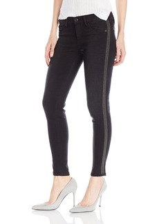 Hudson Jeans Women's Luna Midrise Ankle Super Skinny With Side Bead Detail 5 Pocket Jeans