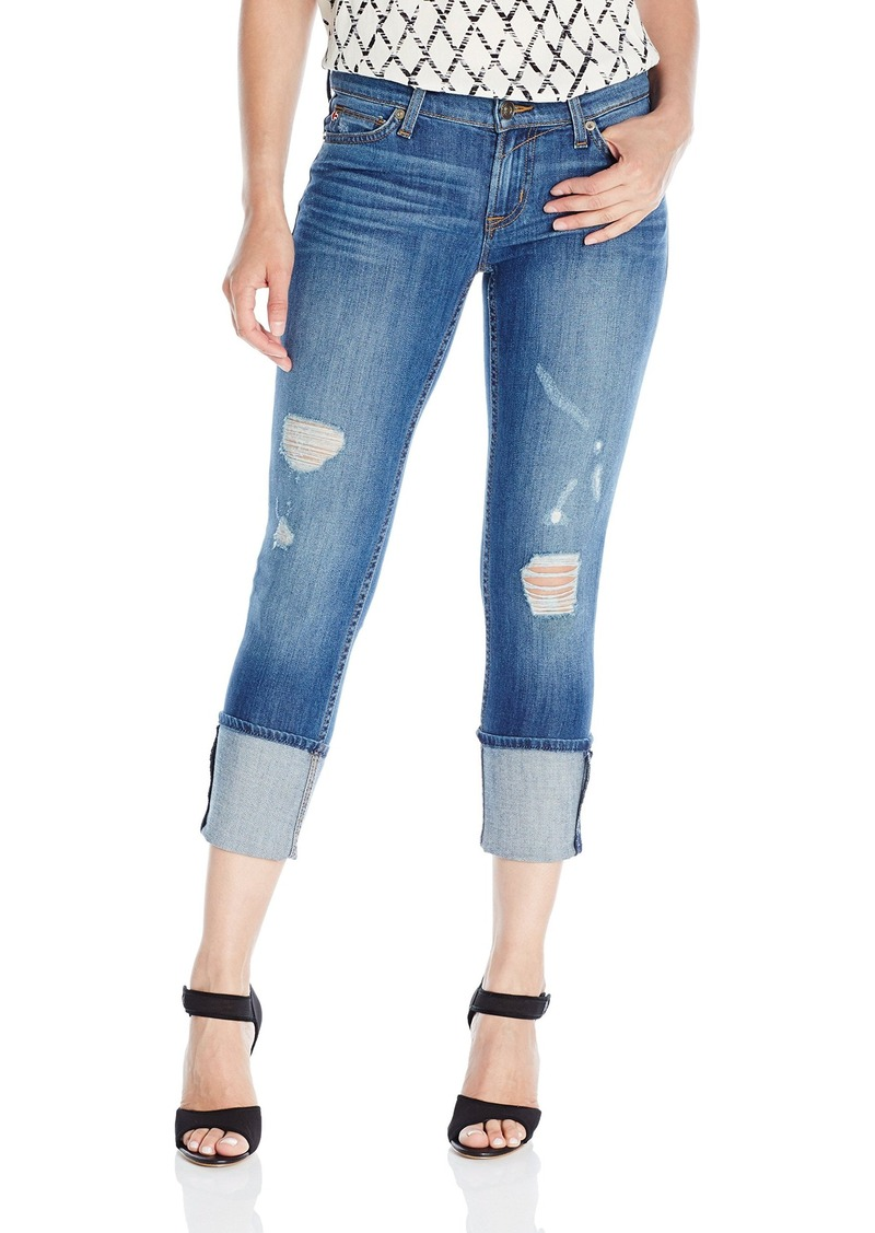 Hudson Jeans Women's Muse Crop Skinny With Five Inch-Cuff 5-Pocket Jean