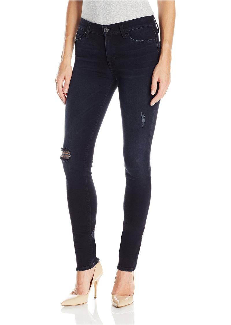 Hudson Jeans Women's Nico Mid-Rise Super Skinny 5-Pocket Black Wash Jean