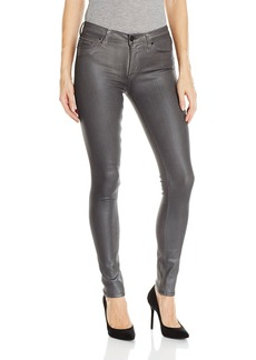 Hudson Jeans Women's Nico Mid-Rise Super Skinny 5-Pocket Coated Jean MYSTIC SILVER