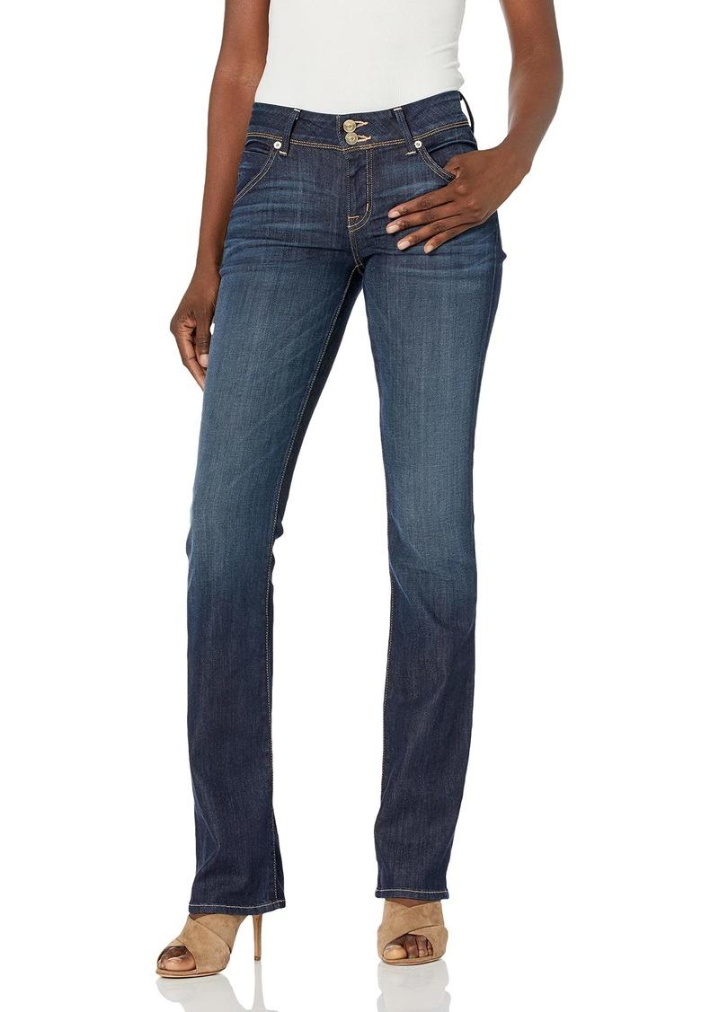 HUDSON Jeans Women's Nico Mid Rise Super Skinny Jean Too Soon with raw Hem