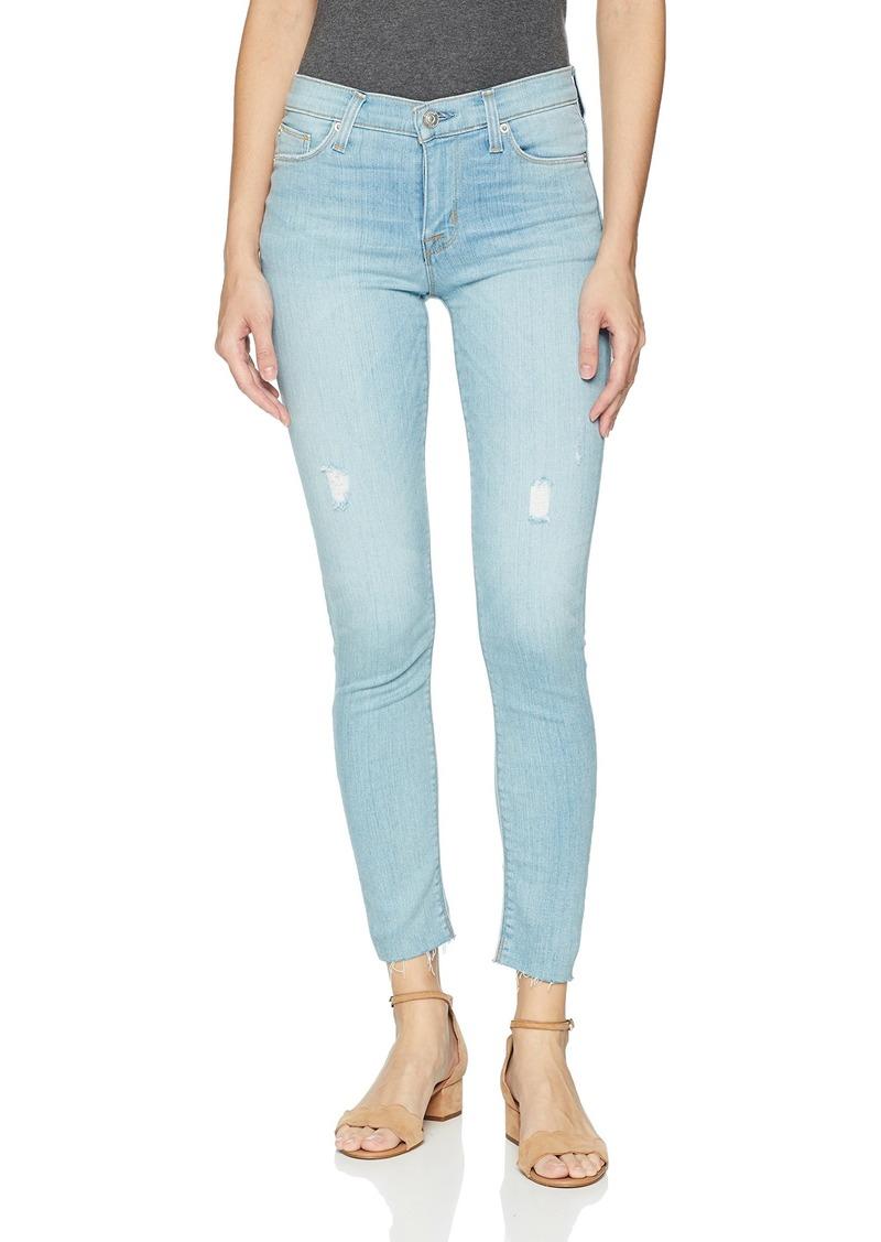 Hudson Jeans Women's NICO Midrise Ankle RAW Hem Super Skinny 5 Pocket Jean  You