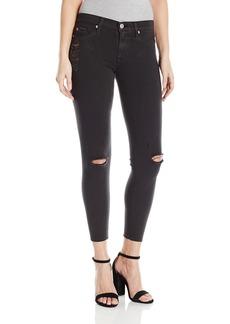 Hudson Jeans Women's Nico Midrise Ankle Skinny With Raw Hem