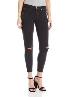 Hudson Jeans Women's Nico Midrise Ankle Skinny with Raw Hem