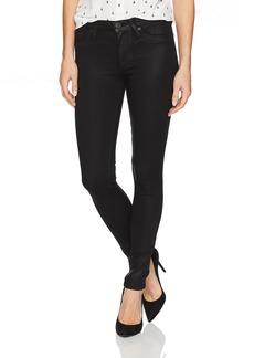 Hudson Jeans Women's Nico Midrise Super Skinny Black Coated Jeans