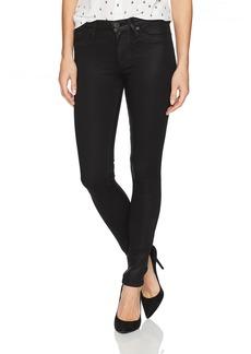 Hudson Jeans Women's Nico Midrise Super Skinny Black Coated Jeans Noir