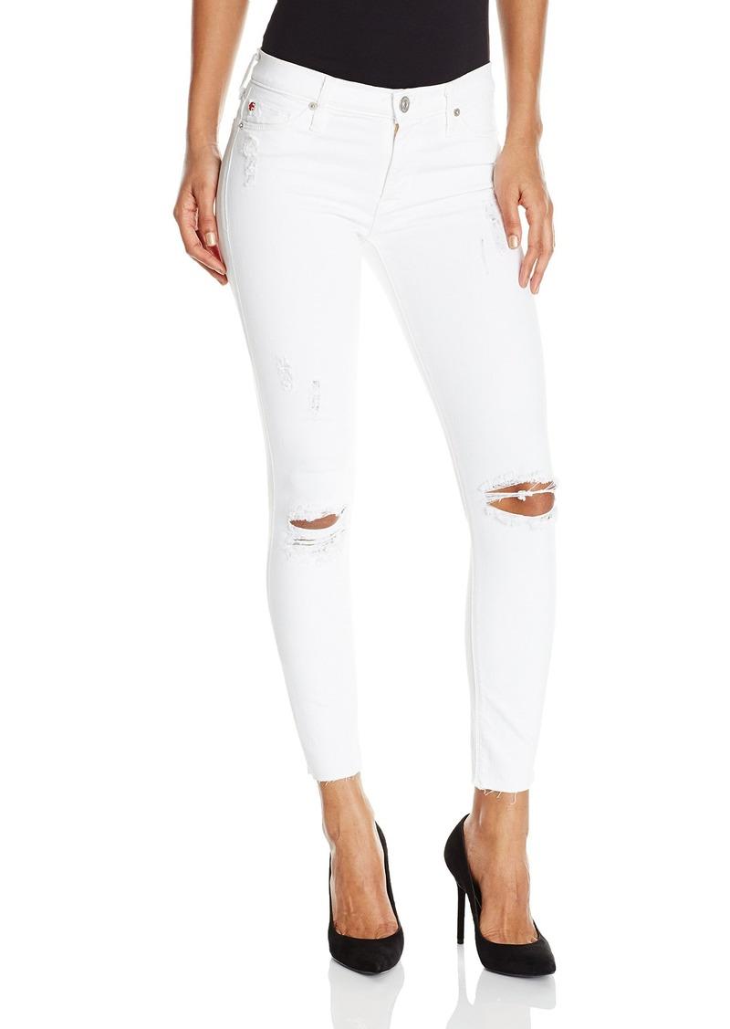 Hudson Jeans Women's Nico Midrise Super-Skinny With Raw Hem 5-Pocket Jean  32