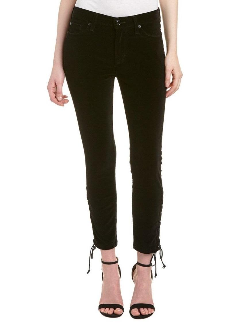 HUDSON Jeans Women's Nix High Rise Lace Hem Crop 5 Pocket Jean