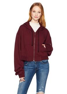 HUDSON Jeans Women's Oversized Zip Crop Hoodie