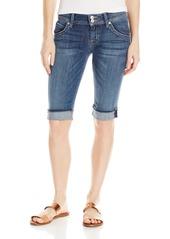 Hudson Jeans Women's Palerme Knee Denim Short ALABASTER DAZE
