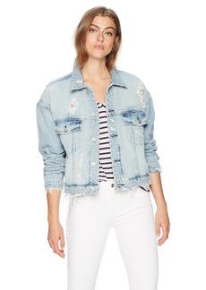 Hudson Jeans Women's REI Cropped Jean Jacket high/Dry LG