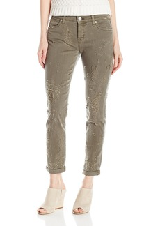 Hudson Jeans Women's Riley Crop Relaxed Straight 5 Pocket Jean