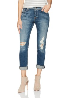 Hudson Jeans Women's Riley Crop Relaxed Straight 5 Pocket Jeans