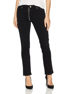 Hudson Jeans Women's Riley Crop Relaxed Straight Jean with Exposed Zipper