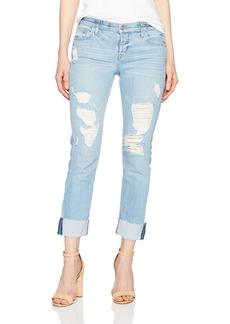Hudson Jeans Women's Riley Crop Rlxd STR Raw Cuffed Push N shove