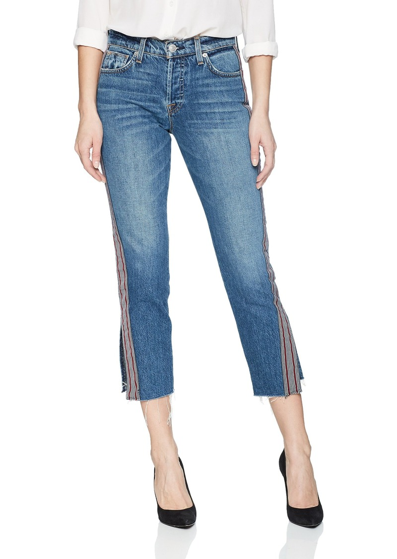 HUDSON Jeans Women's Riley Luxe Crop with RAW Hem 5 Pocket Jean