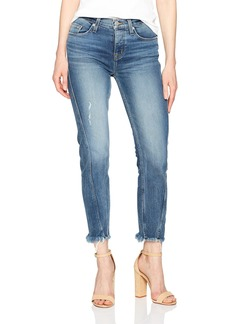 Hudson Jeans Women's Rival Seamed High Rise Stratight 5 Pocket Jean