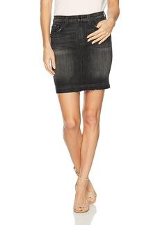 Hudson Jeans Women's Robbie Midrise Denim Pencil Skirt with Released Hem