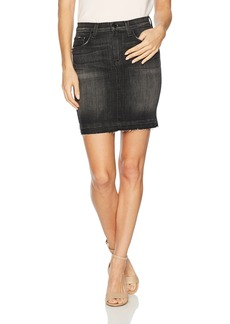 Hudson Jeans Women's Robbie Midrise Denim Pencil Skirt with Released Hem