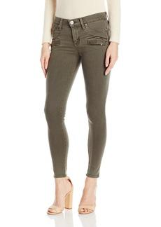Hudson Jeans Women's Roe Midrise Ankle Super Skinny Zip Front Detail 5 Pocket Jeans