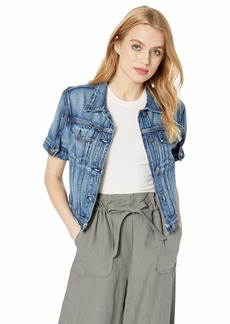 HUDSON Jeans Women's Ruby Contour Jean Jacket  XS