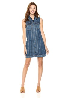 Hudson Jeans Women's Sleeveless Trucker Dress  LG