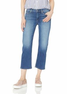 Hudson Jeans Women's Stella MID Rise Crop Straight Leg 5 Pocket Jean