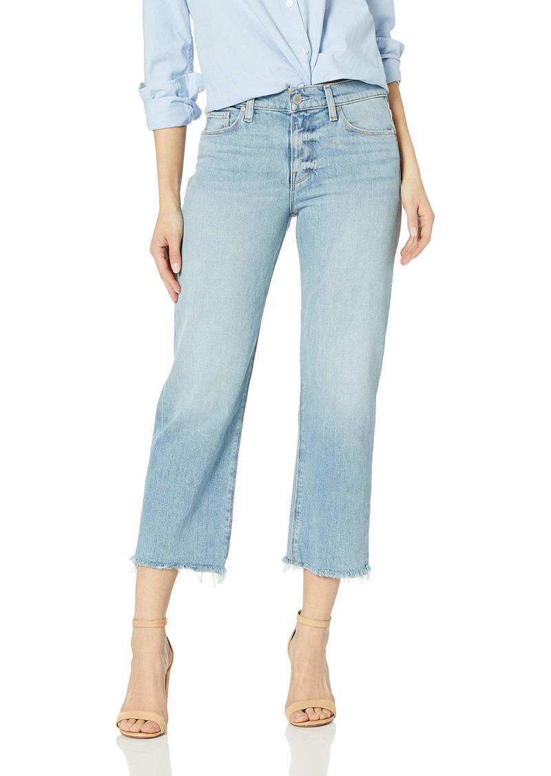 Hudson Jeans Women's Stella Midrise Crop Straight 5 Pocket Jean sundried/W/raw hem