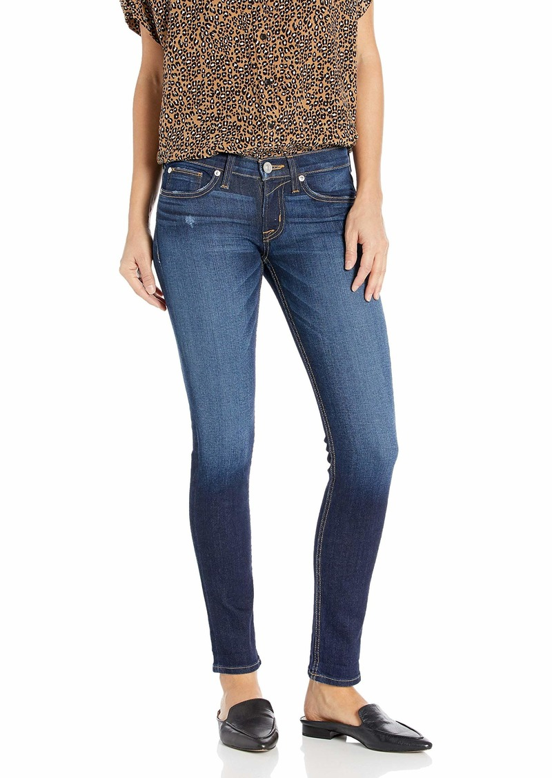HUDSON Jeans Women's Tally Mid Rise Skinny Cropped Jean with A Cuffed Hem