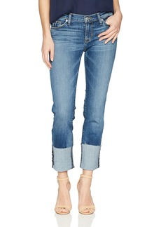 Hudson Jeans Women's Tally Deep Cuff Crop Skinny 5 Pocket Jean