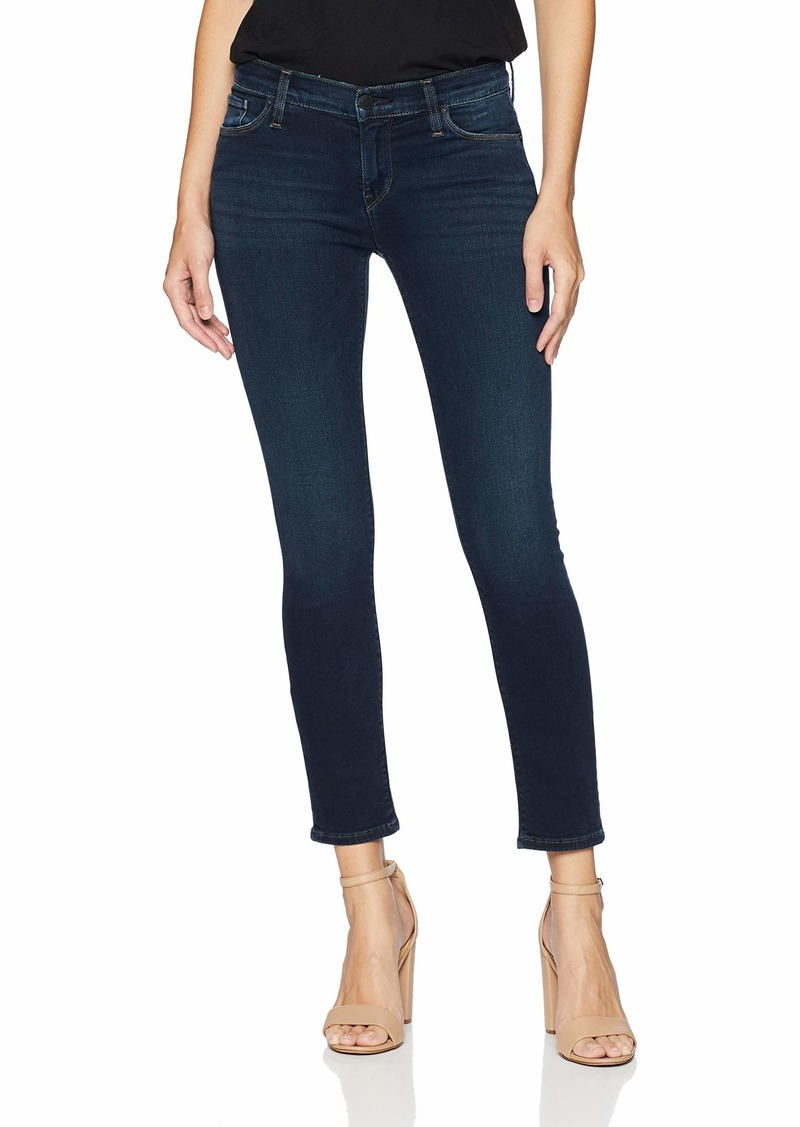 HUDSON Jeans Women's Tally Mid Rise Cropped Skinny Jean Down n' Out