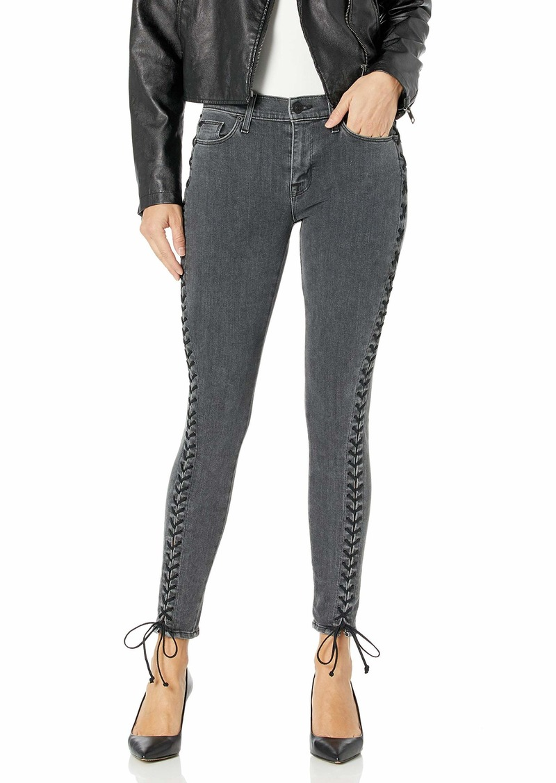 HUDSON Jeans Women's The Stevie Midrise Cont Lace Up Skinny 5 Pocket Jean