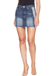 Hudson Jeans Women's The Viper Mini Jean Skirt rip Love