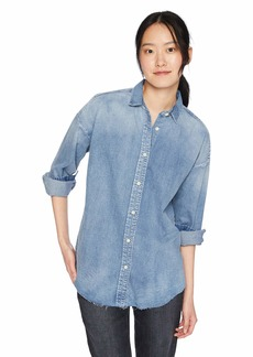 Hudson Jeans Women's Vintage Denim Shirt Indigo SM