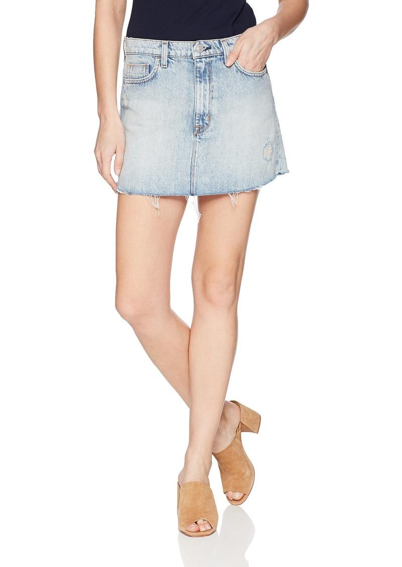 Hudson Jeans Women's Vivid Denim Mini Skirt high/Dry