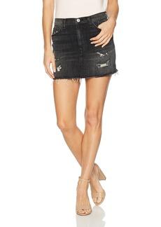 Hudson Jeans Women's Vivid Denim Mini Skirt W Released Hem