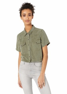 Hudson Jeans Women's Western Shirt Desert sage LG