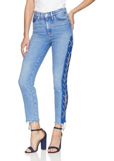 Hudson Jeans Women's Zoeey HIG Rise LACE UP Straight Crop Jean high Spirits