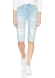 Hudson Jeans Women's Zoeey HIGH Rise Cut Off Boyfriend Shorts